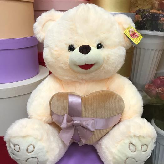 Игрушка мягкая Медвеженок с сердцем