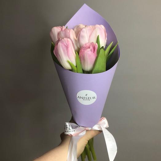 Монобукет из тюльпанов сорта Династия