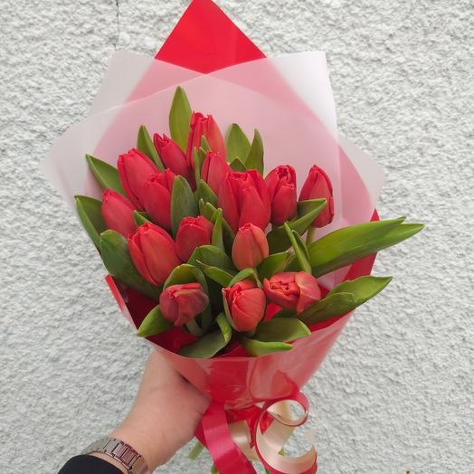 Букет тюльпанов 15шт