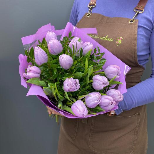 Bouquet of 15 tulips