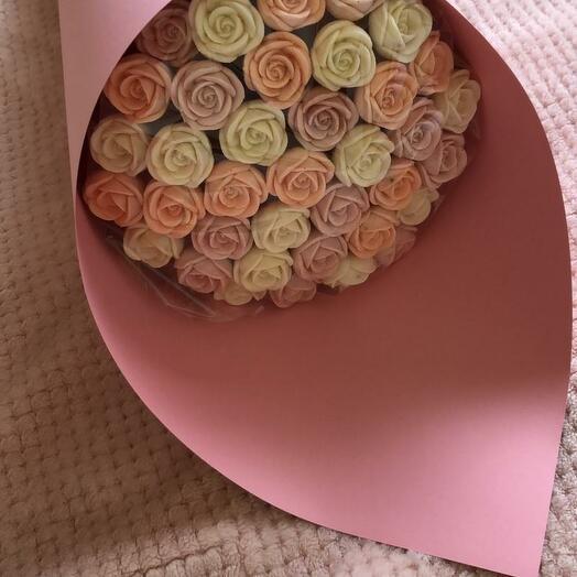 Шоколадные розы-8