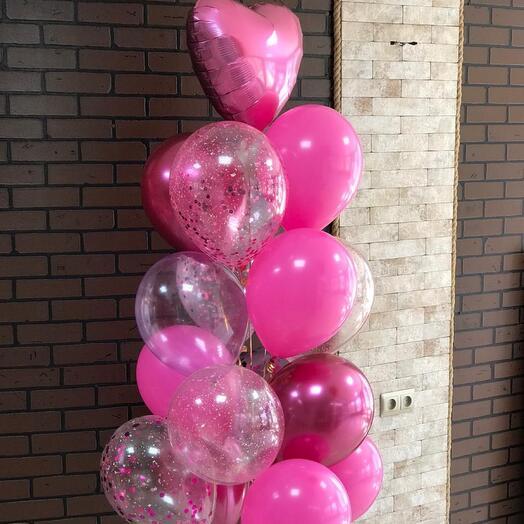 Розовые шарики
