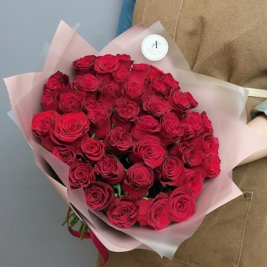 Букет из 41 розы Кения