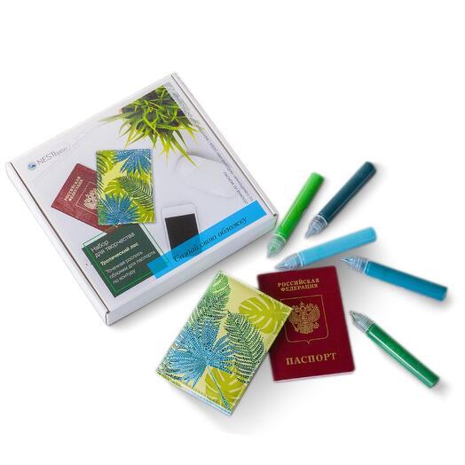 Набор для росписи обложки на паспорт NESTbase «Тропический лес»