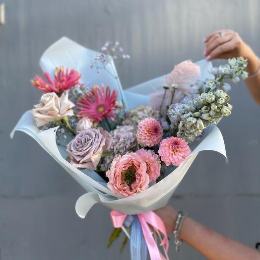 Букет Розово-голубой