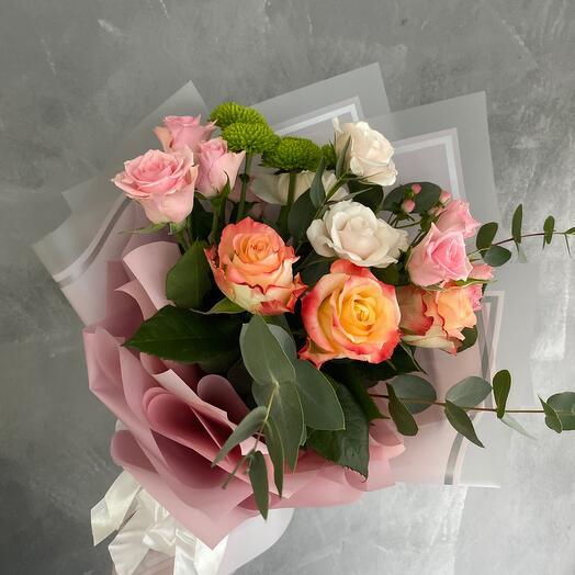 Букет «Роза нежная»