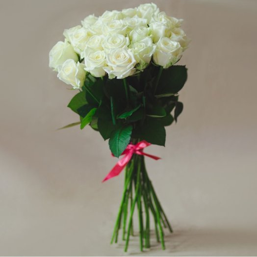 35 white roses: flowers to order Flowwow