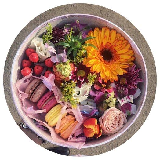 Сладкая коробка Солнце: букеты цветов на заказ Flowwow
