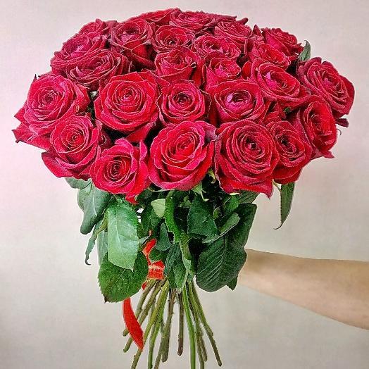 Букет из 27 красных роз 70 см: букеты цветов на заказ Flowwow