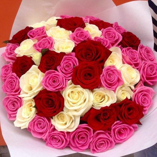 Букет 51 роза микс: букеты цветов на заказ Flowwow