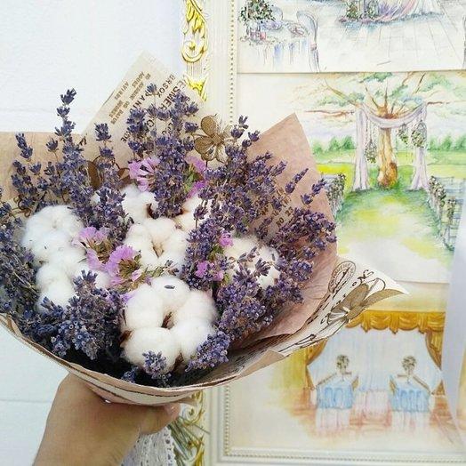 Букет сухоцвет: букеты цветов на заказ Flowwow
