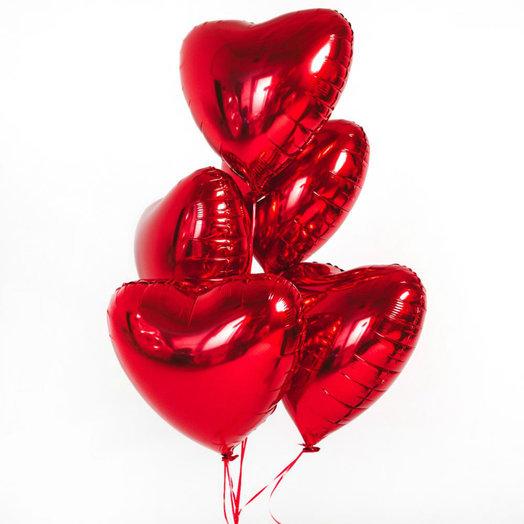 Сердца фольгированные: букеты цветов на заказ Flowwow