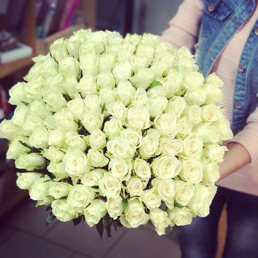 101 Голландская роза: букеты цветов на заказ Flowwow