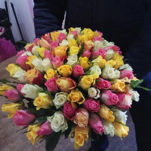 101 роза Кенния: букеты цветов на заказ Flowwow