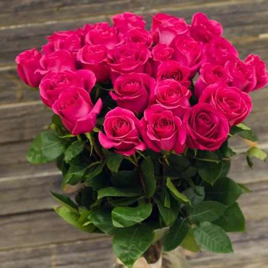 Розы Топаз 25 шт: букеты цветов на заказ Flowwow