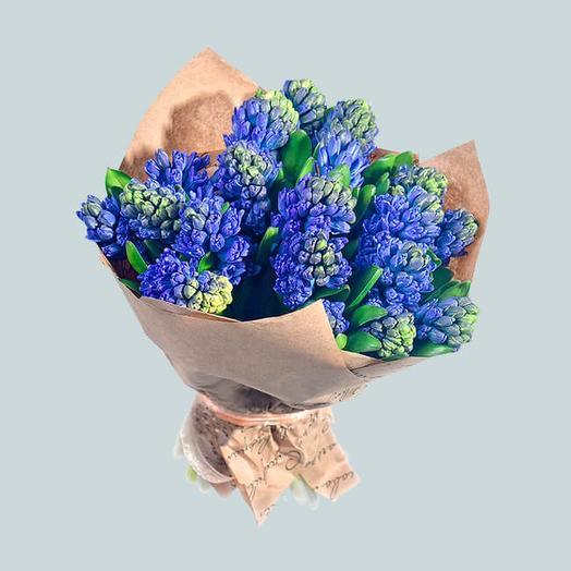 Букет из 25 гиацинтов: букеты цветов на заказ Flowwow