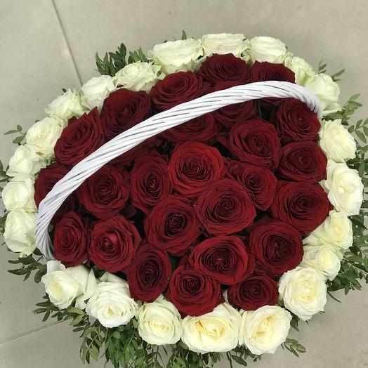 Корзина «Сердце»: букеты цветов на заказ Flowwow
