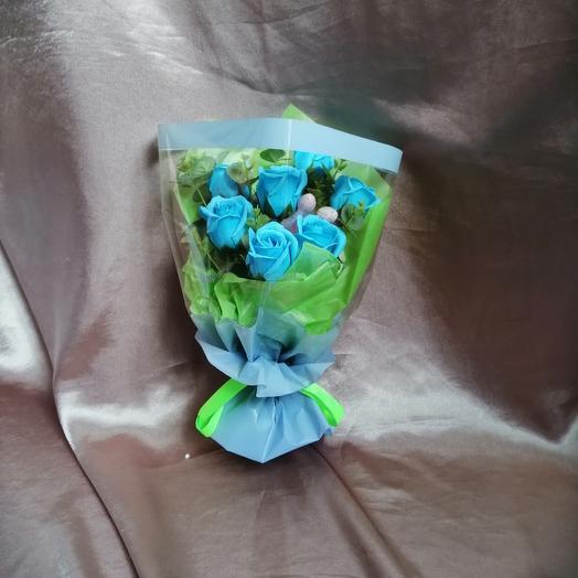Мини букет из мыльных роз: букеты цветов на заказ Flowwow