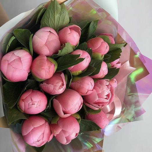 Букет 17 пионов: букеты цветов на заказ Flowwow