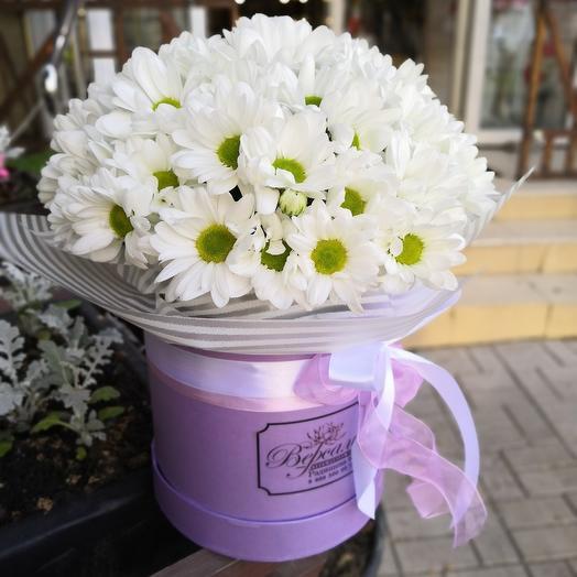 Ромашковая коробка: букеты цветов на заказ Flowwow