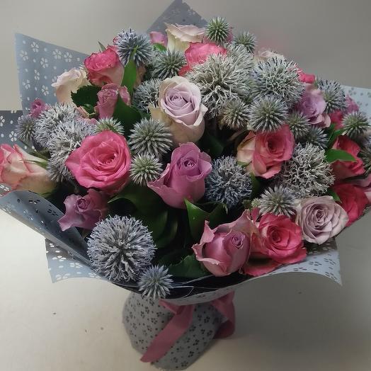 Букет с Мордовником: букеты цветов на заказ Flowwow