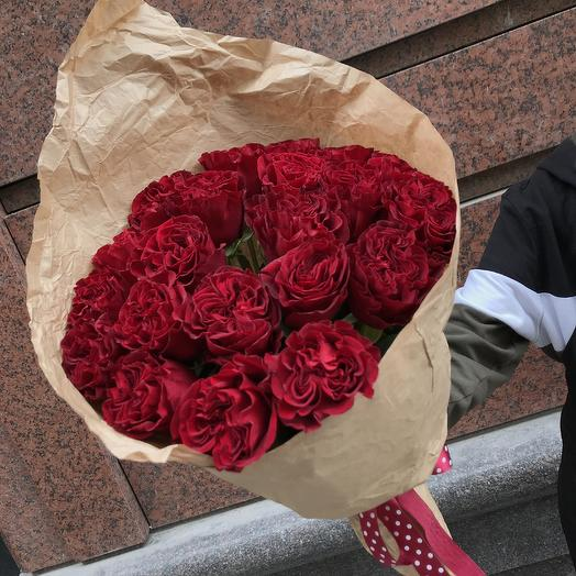 Пионовидная кудрявая роза: букеты цветов на заказ Flowwow