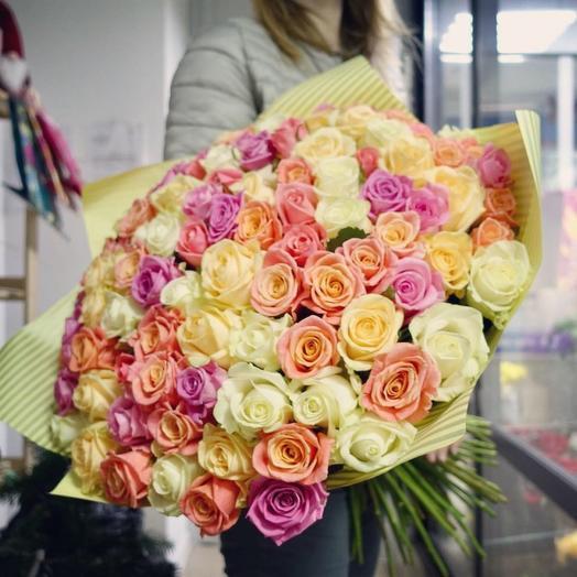 101 роза «Трепет»: букеты цветов на заказ Flowwow