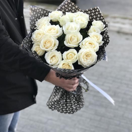 21 роза белая: букеты цветов на заказ Flowwow