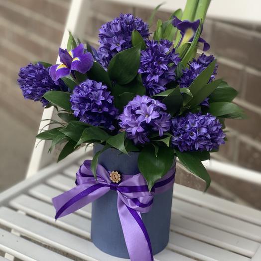 Arrangement with hyacinths: flowers to order Flowwow