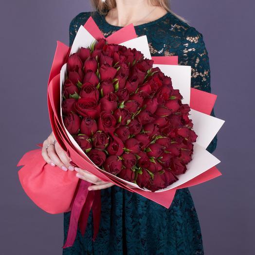 101 нежных роз Кения: букеты цветов на заказ Flowwow