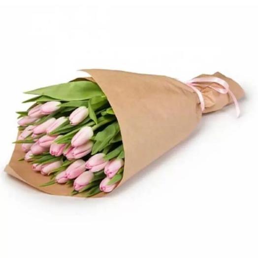 """Букет""""Розовые тюльпаны """": букеты цветов на заказ Flowwow"""