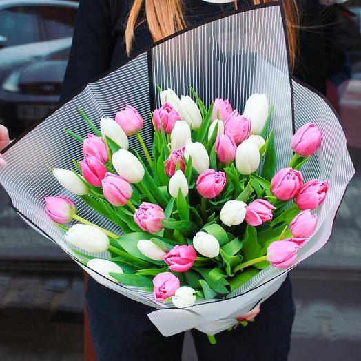25 микс тюльпанов пинк