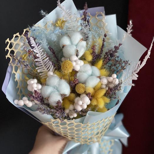 Небесные сухоцветы: букеты цветов на заказ Flowwow
