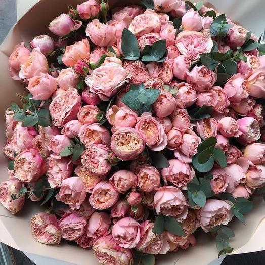Роза кустовая Джульетта: букеты цветов на заказ Flowwow