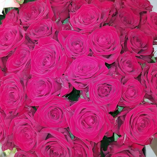 Розы  Эквадор Бордо 11 штук