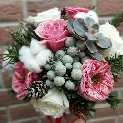 Зимний букет невесты: букеты цветов на заказ Flowwow