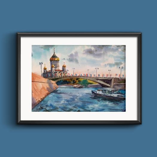 "Картина ""Москва река"""