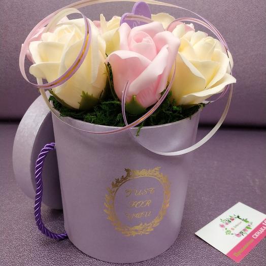 Soap roses in box