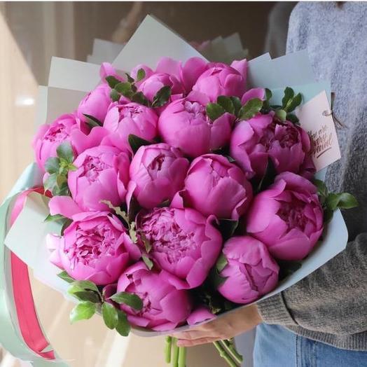 Букет любимых пионов: букеты цветов на заказ Flowwow