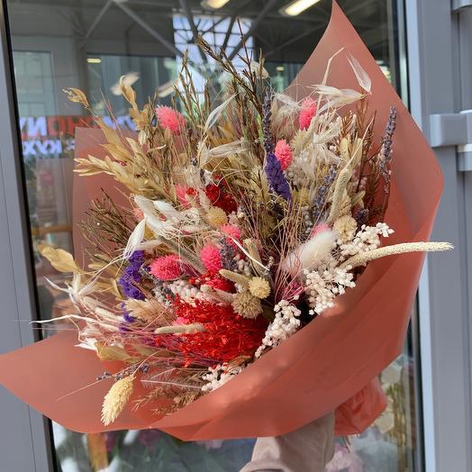 Сухоцветы: букеты цветов на заказ Flowwow