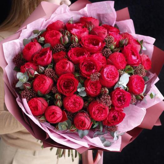 """Букет с пионавидной розой """"Букет роз """""""