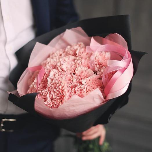 Букет из розовых гвоздик, 39 шт