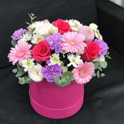 """Цветы в коробке """"Настроение"""""""