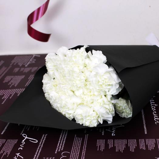 Bouquet of 19 white carnations