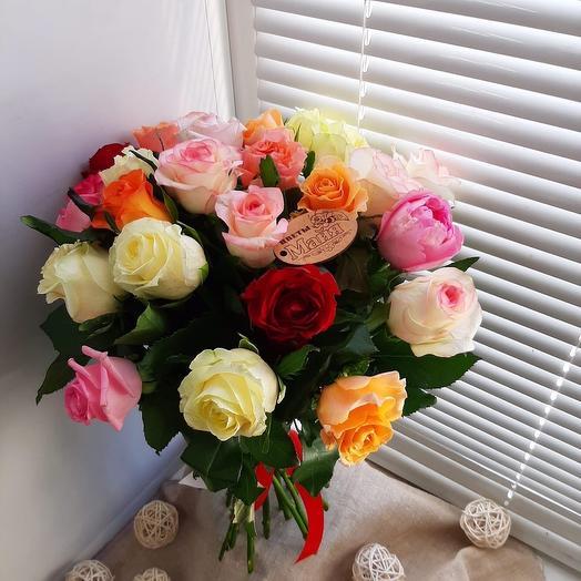 Букет из 25 роз по АКЦИИ
