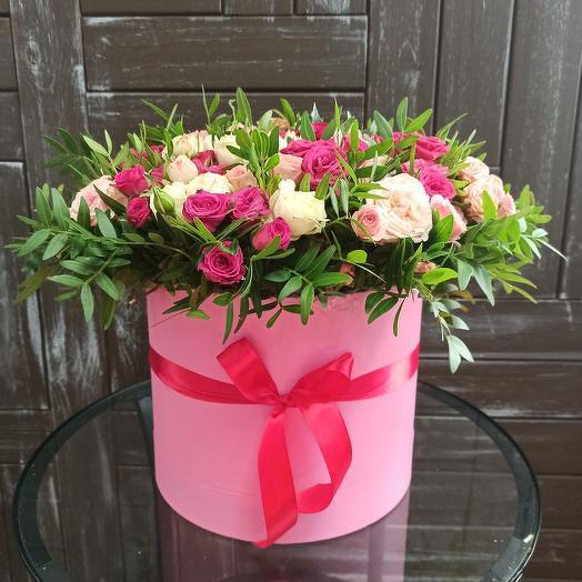 """Цветы в коробке """"Трепетные чувства"""""""
