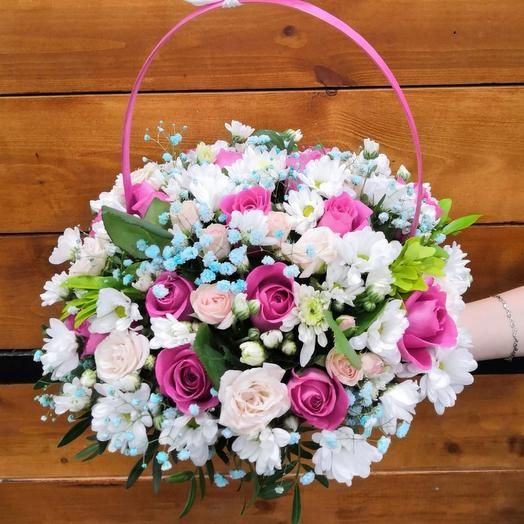 Корзина с цветами «Прекрасное утро»