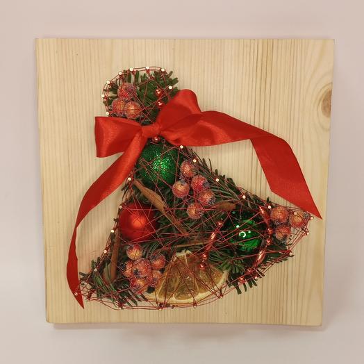 """Панно """"рождественский колокольчик"""