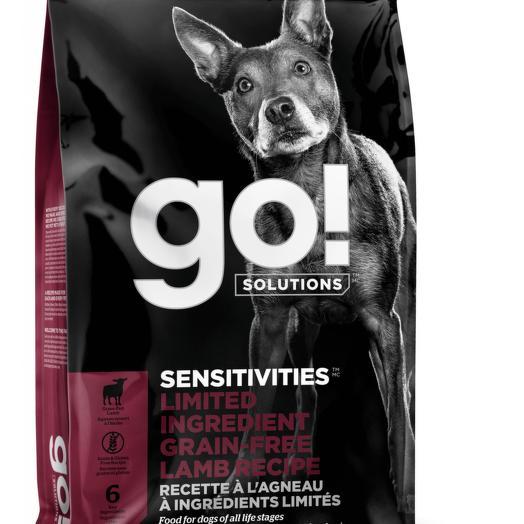 GO! беззерновой корм для щенков и собак с ягненком для чувствительного пищеварения 2,72 кг