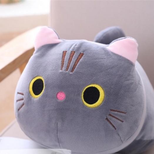 """Мягкая игрушка """"Котик"""" серый 35см"""